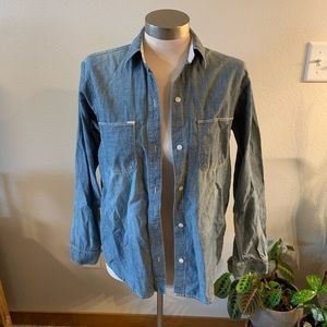 Madewell denim button down top